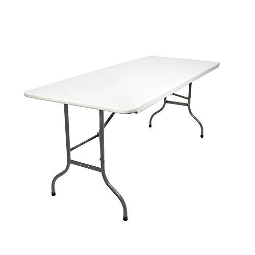 Vanage Gartentisch aus Kunststoff Klappbar off-white