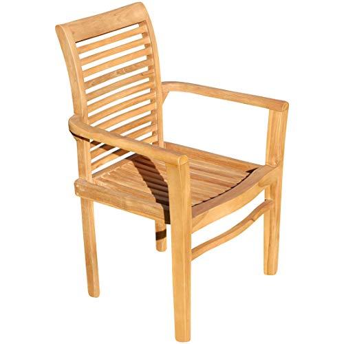 ECHT TEAK Design Gartensessel Gartenstuhl Sessel Holzsessel Gartenmöbel Holz sehr robust Modell ALPEN von AS-S