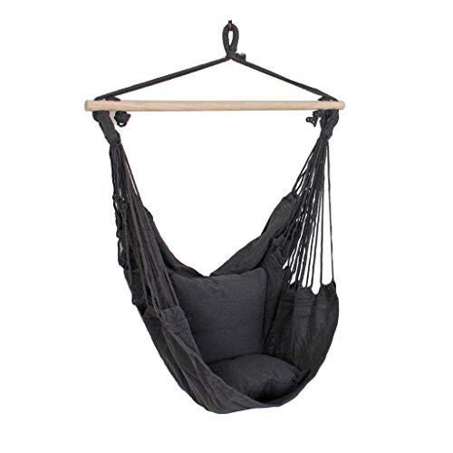 Unbekannt Hochwertiger Decken Hänge Sessel Matte beige Holz Textil Baumwolle Polyester anthrazit Harms 507018