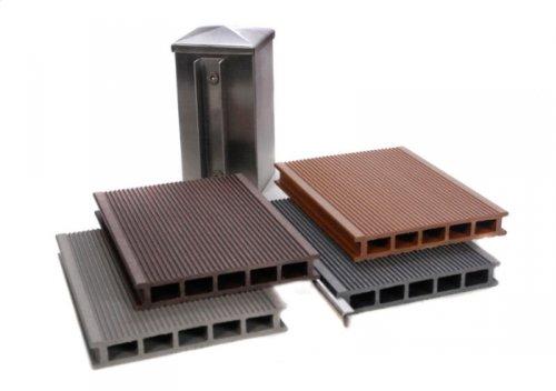 123mygardende WPC Sichtschutz Zaun Premium Windschutz Musterset