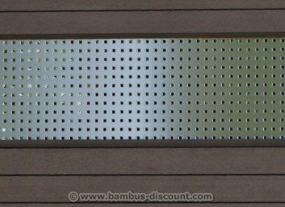 Dekorprofil für WPC Zaun Metall hoch 180x30cm - Sichtschutz Sichtschutz Elemente Sichtschutzwand Windschutz Sichtschutzzäune