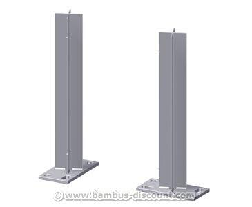 Zaunpfosten Träger für WPC Pfosten zum Aufschrauben - Sichtschutz Sichtschutz Elemente Sichtschutzwand Windschutz