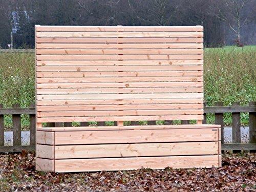 Pflanzkübel Holz lang mit Sichtschutz Douglasie Natur