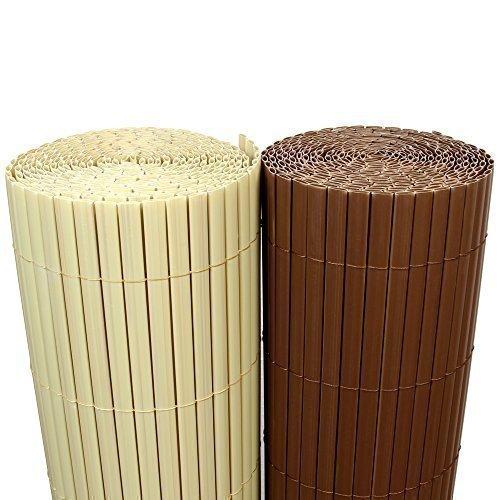 Rapid Teck 5€m² PVC Bambus Sichtschutzmatte 100cm x 800cm Bambus Natur SichtschutzWindschutz  GartenzaunBalkon Umspannung Zaun