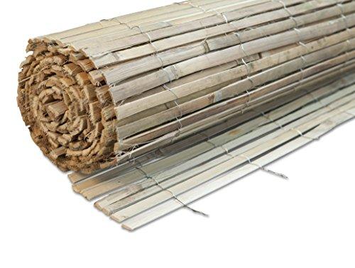 Windhager Sichtschutzmatte BEACH Bambus Bambusmatte Sichtschutz-Zaun Windschutz  100 x 300 cm natur 06684