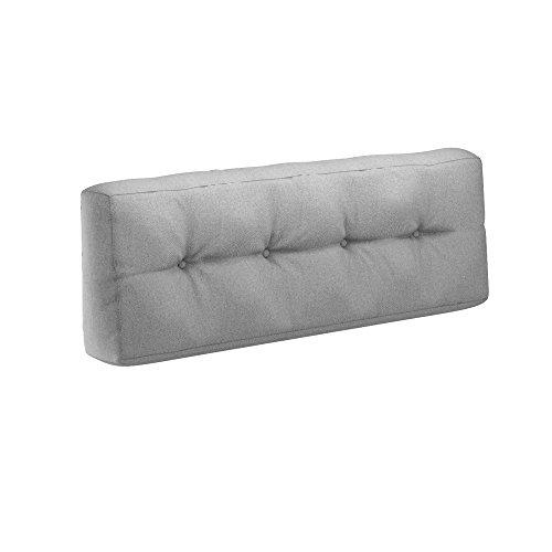 Farbvielfalt Palettensofa Palettenpolster Kissen Sofa Couch Polster Indoor Outdoor Rückenkissen Grau