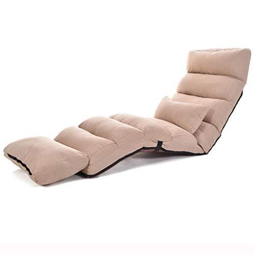 LRSF Sofa Faule Couch klappstuhl schiene Stuhl Freizeit Sofa Stuhl Schlafzimmer schlafsaal Stuhl Zwei Farben Home Farbe  A