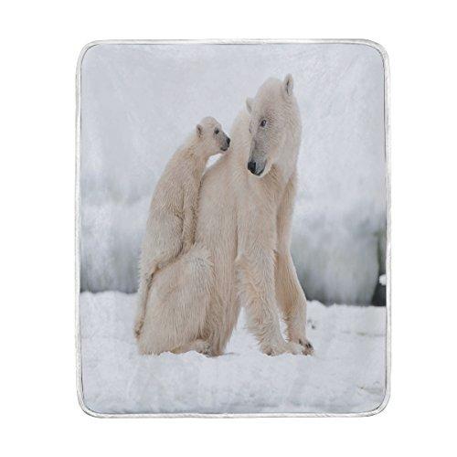 Use7 Home Decor Winterdecke mit Eisbär-Motiv weich warm für Bett Couch Sofa leicht für Reisen Camping 127 cm x 1524 cm Überwurf Größe für Kinder Jungen und Frauen