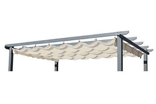 OUTFLEXX Ersatzdach für Pergola Garten-Pergola in Creme Pavillon aus Polyester Textil universal und wasserabweisend ca 400 x 300 cm