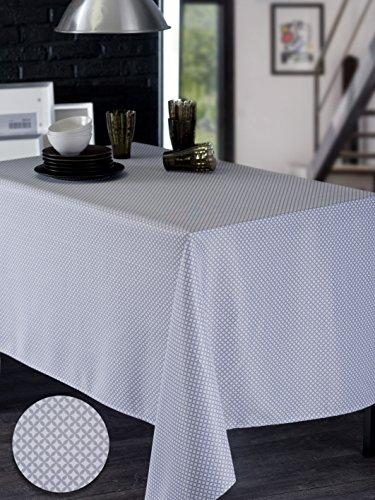 CALITEX Tischdecke Wachstuch rechteckig PVC Beige Rosa PVC hellgrau 140 x 250 cm