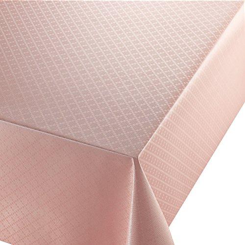 Wachstuch Diamant Relief Rosa Breite Länge wählbar abwaschbare Tischdecke Eckig 110 x 160 cm