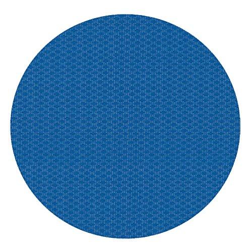 Klassische PVC Tischdecke  Gartentischdecke Milano Raute RUND OVAL LFGB Food Safe Größe Farbe wählbar Rund 100 cm Blau abwaschbare Tischdecke