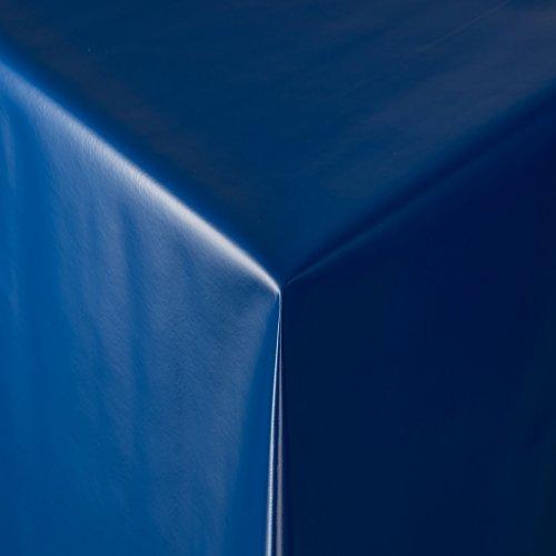 Tischdecke Wachstuch RUND ECKIG OVAL in verschiedenen Größen abwaschbar Meterware einfarbig Uni Wachstischdecke Glatte Oberfläche blau
