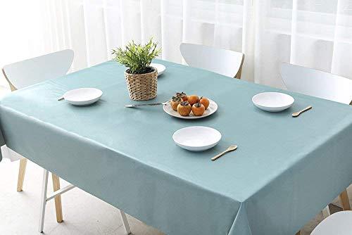 fancy-fix Tischdecke abwaschbare Wachstuchtischdecke aus 100 Vinyl Wachstuch Meterware  schimmelfrei Pflegeleicht zuschneidbar  rechteckig – quadratisch in Türkis Blau-Grün 137 x 200 cm
