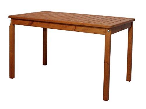Ambientehome 90472 Gartentisch Tisch Massivholz Esstisch EVJE braun ca 120 x 70 cm