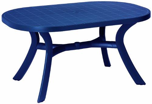 BEST 18511520 Tisch Kansas oval 145 x 95 cm blau