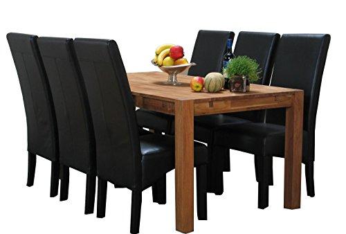 7tlg Essgruppe Turbo Sitzgruppe Tischgruppe Esstisch Esszimmertisch massiv