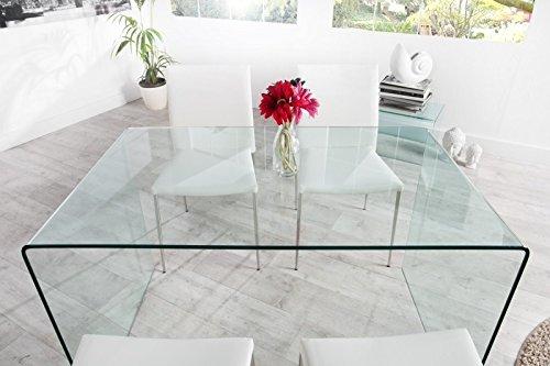Casa Padrino Moderner Design Esstisch Glas 120 cm - Ghost Table Esszimmer Tisch - Schreibtisch