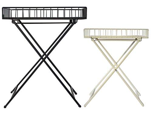 Klapptisch Beistelltisch Terrassen Tisch Campingtisch Klappbar Holz Metal Neu Weiß