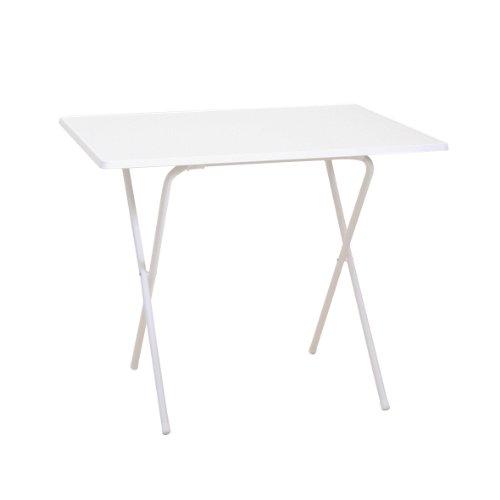 greemotion Scherentisch in Weiß Gartentisch 60 x 80 cm Balkontisch klappbar Beistelltisch mit Holz-Kunststoff Sevelit Tischplatte Kleiner Tisch für Camping Multifunktionstisch witterungsbeständig
