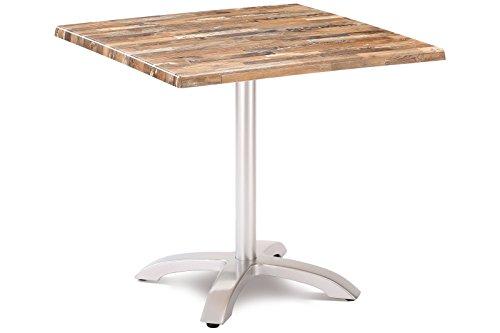 Best Klapptisch Maestro 80x80 cm eckig SilberMaracaibo Esstisch Gartentisch Tisch