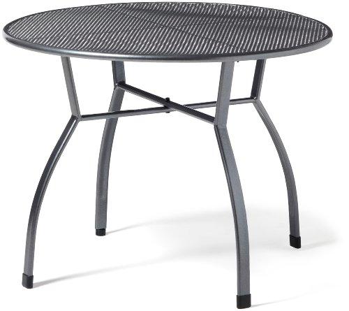 greemotion Gartentisch Toulouse rund Ø ca100 cm pflegeleichter Tisch aus kunststoffummanteltem Stahl Esstisch mit Niveauregulierung eisengrau