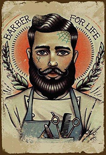 Schatzmix Barber for Life Friseur Metal Sign deko Sign Garten Blech