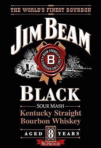 Schatzmix Jim Beam Black Kentucky Straight Bourbon Whiskey Alkohol Metal Sign deko Sign Garten Blech