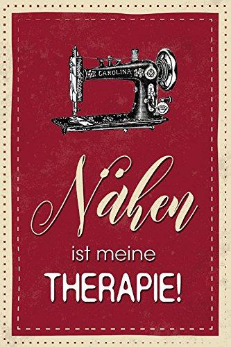 Schatzmix Nähen ist Meine Therapie Whisky Lustig Spruch Metal Sign deko Schild Blech Garten