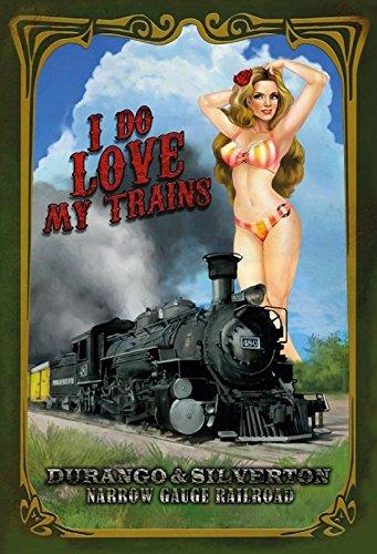 Schatzmix Pinuppin up sexy Frau Erotik i do Love Trains Narrow Gauge Railroad Lok Zug Bahn Metal Sign deko Sign Garten Blech