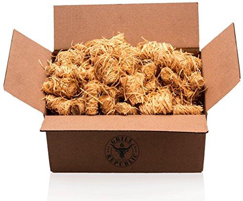 Holzwolle Grill-Anzünder WOOLYS 15kg - ökologische Premium-Anzünder für Grill Kamin und Ofen - geruchlos - Naturprodukt aus Holz und Wachs - besonders Lange Brenndauer - Kaminanzünder
