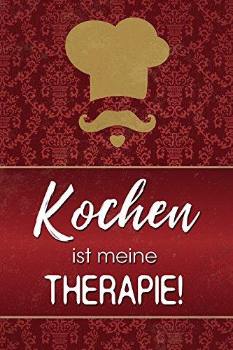 Schatzmix Kochen ist Meine Therapie Whisky Lustig Spruch Metal Sign deko Schild Blech Garten