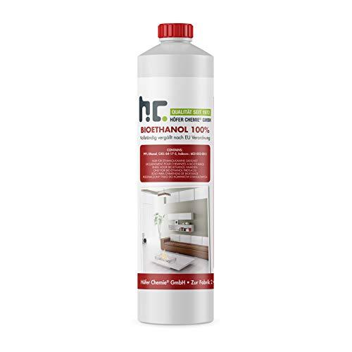 Höfer Chemie 24 L Bioethanol 100 Premium 24 x 1 L für Ethanol Kamin Ethanol Feuerstelle Ethanol Tischfeuer und Bioethanol Kamin