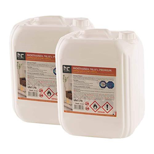 Höfer Chemie 30 L 3 x 10 L Bioethanol 966 Premium - TÜV SÜD zertifizierte QUALITÄT - für Ethanol Kamin Ethanol Feuerstelle Ethanol Tischfeuer und Bioethanol Kamin