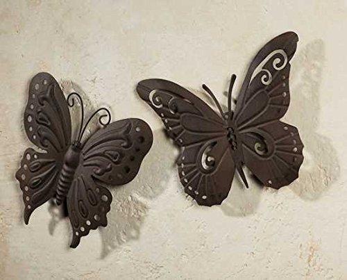 Gartenfigur aus Metall Schmetterling aus Metall 2er Außendeko aus Metall Deko-Schmetterlinge sind für den Außenbereich geeignet