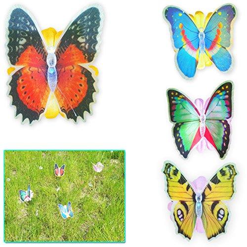 LED Schmetterling Gartenstecker Farbwechsler LED Spieß Beleuchtung Garten Balkon Deko Bunt 10 Stück