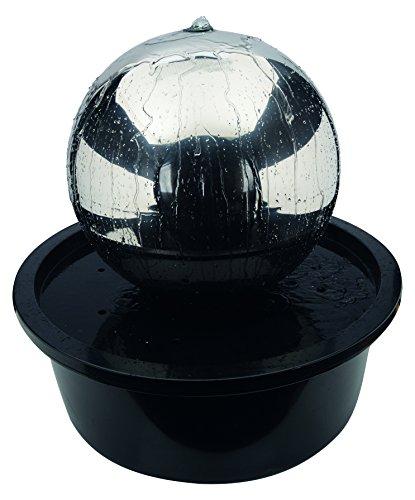 Naeve Leuchten LED Brunnen für Aussen mit Edelstahlkugel edelstahl 57 x 57 x 56 cm 518750