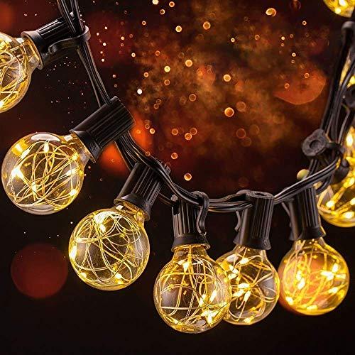 31 LED Lichterkette Glühbirne B-right G40 Lichterkette strombetrieben Innen und Außen Lichterkette 155 leds wamrweiß Weihnachtsbeleuchtung Lichterkette für Balkon Weihnachten Hochzeit Party