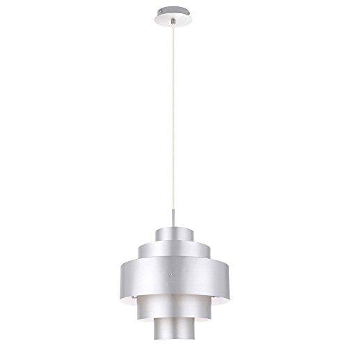 95 Watt LED Pendel Lampe Wohnzimmer Hänge Leuchte Licht Beleuchtung silber EEK A