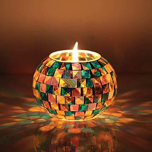StillCool Mosaik Lampe Leuchten Solarleuchte Geschenke Solar Tischlampe mit Farbwechselmodus Stimmungslicht Dekolampe für Wohnzimmer Balkon ein optimales Geschenk S-315 Glasierte