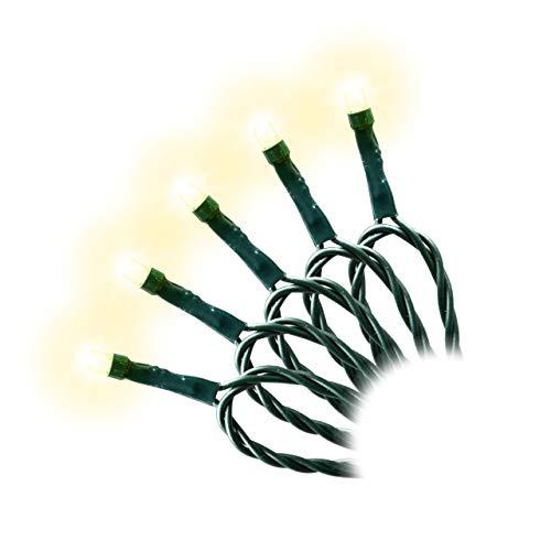 200 LED Lichterkette mit Trafo  Timer dimmbar 6 Funktionen Fernbedienung warm-weiß grünes Kabel Weihnachtsdeko Funktionslichterkette