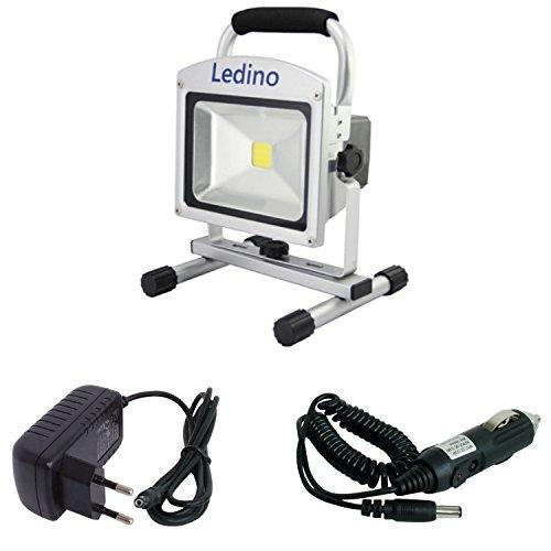 Ledino 20 W LED-Akkustrahler mit Li-Ionen Akku 104 Ah dimmbar