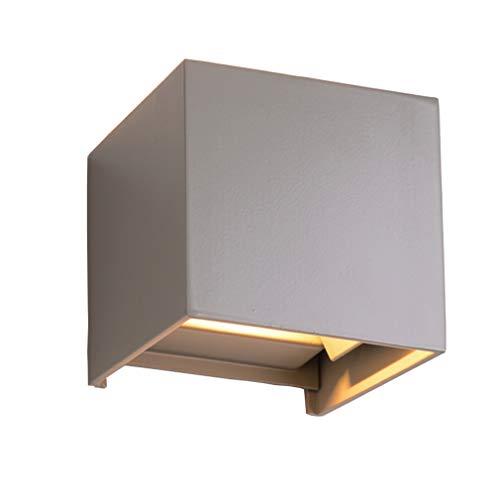 Midore 7W Dimmbar Aluminium Wandleuchte Außenlicht LED Warmweiß 230V 3200K Einstellbare Beleuchtungswinkel LED für Innen und Außen