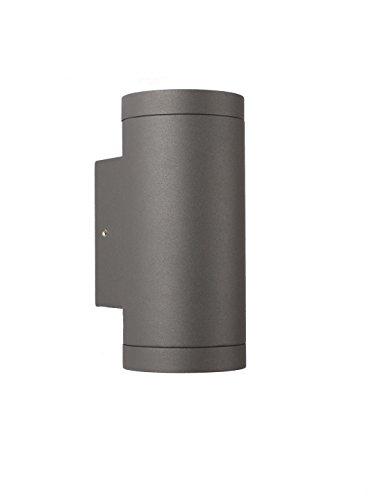 GU10 Außen Wandleuchte - Aluminium Anthrazit Doppelflutig für LED oder Halogen Leuchtmittel Up Down light