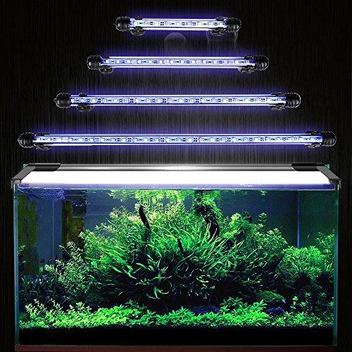 DOCEAN Licht Aquarium Beleuchtung Leuchte Lampe 9 LEDs 5050SMD 18CM Lighting für Fisch Tank EU Stecker Blaulicht Wasserdicht 2 W 12 V