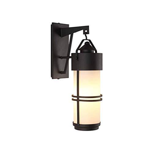 bideng Retro-Outdoor-wasserdichte Wand Lampe Glas Lampenschirm Schmiedeeisen Körper Garten Wand Lampe Korridor Balkon außerhalb Wand Lampe