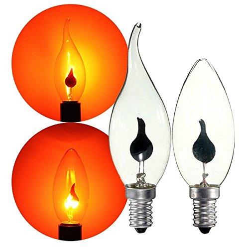 Bazaar Lot RED E14 3W Retro Leuchter Feuer Candle Light Flamme Edison Birnen Lampe AC220V
