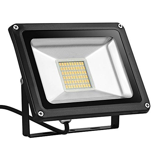 30W Led Strahler warmweiß Strahler außen und innen Wandleuchte Industrielampe Scheinwerfer für Werkstätten Fabriken usw 3000lM IP65 Wasserdicht