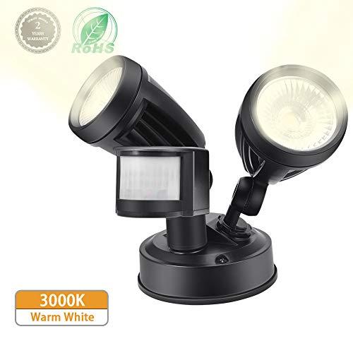 LED Strahler mit BewegungsmelderComaie Lampe mit Bewegungsmelder Aussen 2700 LM Superhell LED Fluter IP65 Wasserdicht Außenstrahler Flutlichtstrahler Scheinwerfer Licht TageslichtweißWarmweiß