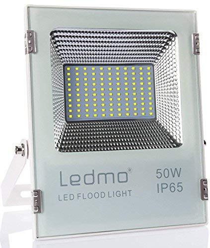 LEDMO 50W led strahler außen kaltweiss 6000k led fluter aussen 4500LM superhell außenstrahler IP65 wasserdicht led scheinwerfer flutlicht